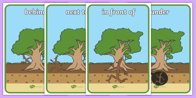 Preposition Display Posters To Support Teaching On Stick Man - preposition, display, posters, support