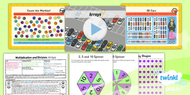 Planit Y1 Multiplication and Division Lesson Pack Arrays - commutativity, commutative, arrays, multiplication and division, planning