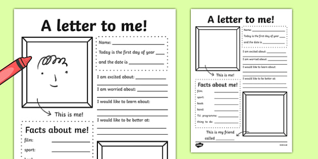 A Letter To Myself Writing Activity - letters, ourselves, write