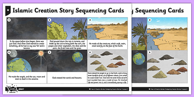 Islamic Creation Story Sequencing Cards