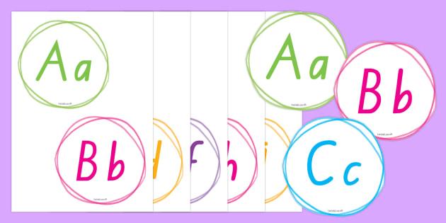 New Zealand Crayon Theme Display Alphabet Line - New Zealand Back to School, back to school, classroom set up, classroom display, alphabet strip, alp