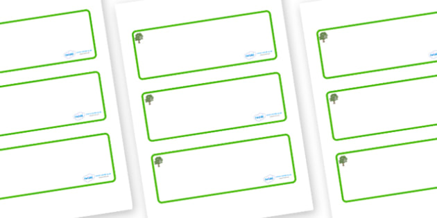 Sycamore Themed Editable Drawer-Peg-Name Labels (Blank) - Themed Classroom Label Templates, Resource Labels, Name Labels, Editable Labels, Drawer Labels, Coat Peg Labels, Peg Label, KS1 Labels, Foundation Labels, Foundation Stage Labels, Teaching Lab