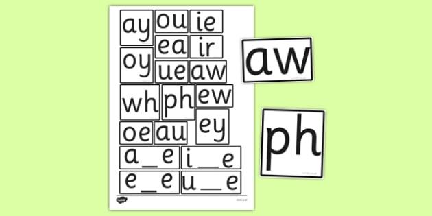 Phase 5 Sounds Tiles - phase 5, tiles, sounds, frames, letters
