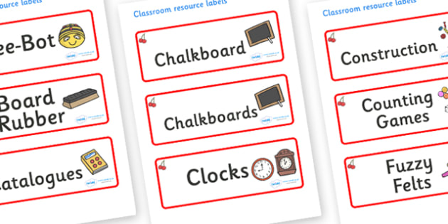 Cherry Themed Editable Additional Classroom Resource Labels - Themed Label template, Resource Label, Name Labels, Editable Labels, Drawer Labels, KS1 Labels, Foundation Labels, Foundation Stage Labels, Teaching Labels, Resource Labels, Tray Labels, P