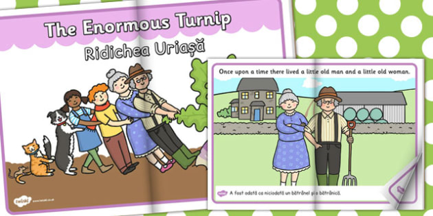 The Enormous Turnip eBook EAL Romanian Translation - romanian