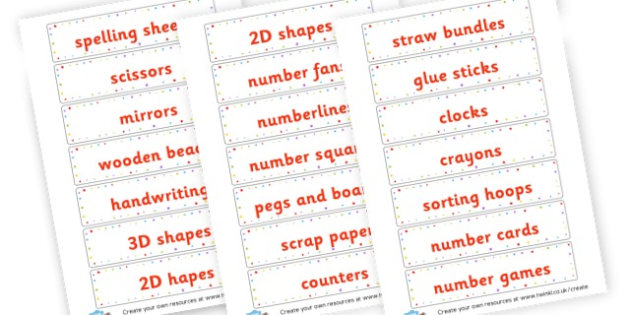 labels - Resource Labels Primary Resources, resource, label, drawer labels
