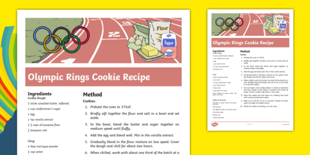 Olympic Rings Cookie Recipe