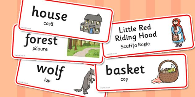 Little Red Riding Hood Word Cards Romanian Translation - romanian