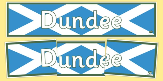 Dundee Display Banner - dundee, scotland, scottish, compare, town, towns, city, cities, britain, uk, united kingdom, geography, location, display
