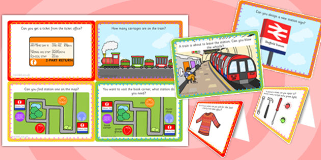 Challenge Cards Train Station - challenge, cards, train station