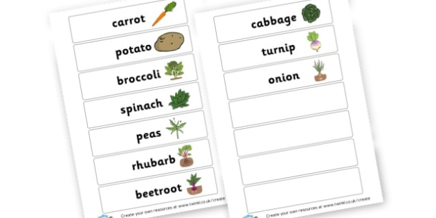 Vegetable Word Cards - Fruit and Vegetables Primary Resources, fruits, healthy eating