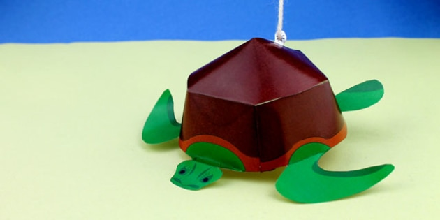 Paper Craft Turtle (Under the Sea) - under the sea, crafts, paper crafts, design