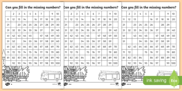 The Great Fire of London Missing Numbers Number Square