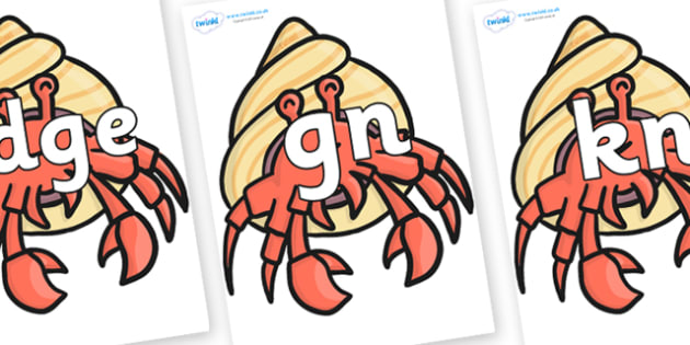 Silent Letters on Hermit Crabs - Silent Letters, silent letter, letter blend, consonant, consonants, digraph, trigraph, A-Z letters, literacy, alphabet, letters, alternative sounds