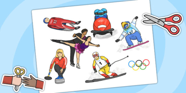 Winter Olympics Cut Outs - olympic, winter, PE, olympic display