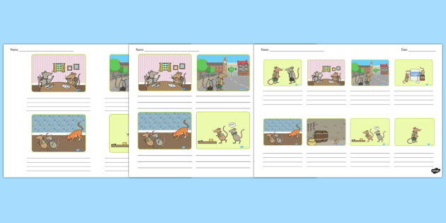 The Town Mouse and the Country Mouse Storyboard Template - story