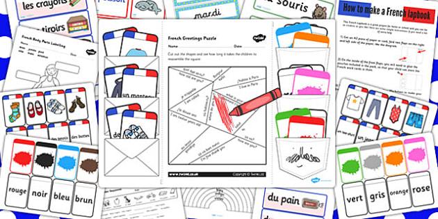 French Lapbook Creation-Pack - France, lapbooks, create, lap