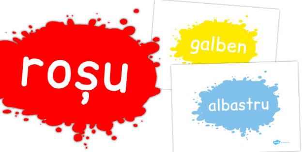Culori, Planse cu imagini si cuvinte, Romanian