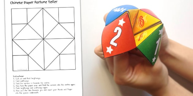 Chinese New Year Blank Paper Fortune Teller Template - australia