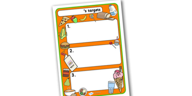 Themed Target Sheets Food - Target Sheets, Themed Target Sheets, Food Target Sheets, Food Themed, Food Themed Target Sheets