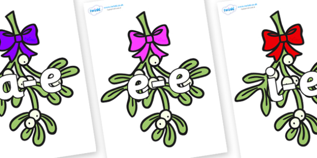 Modifying E Letters on Mistletoe - Modifying E, letters, modify, Phase 5, Phase five, alternative spellings for phonemes, DfES letters and Sounds
