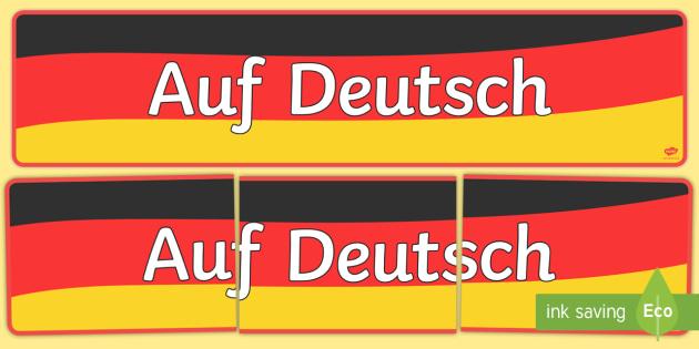 Auf Deutsch Banner - german, in german, vocabulary, languages, Deutsch, Auf Deutsch