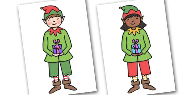 Christmas Editable A4 Elves - christmas, xmas, editable, image, editable image,  A4 elves, elves, elf, display elves, elves for display, pictures of elves for display, editable picture, editable display image, display, display picture