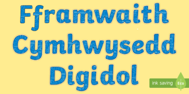 Digital Competence in Welsh Display Lettering