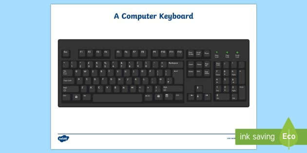 Computer Keyboard Sheet - Computer Keyboard Sheet, Computer, sheet, ICT, information and communications technology, computer, laptop, monitor, keyboard, mouse, pointer, arrows, backspace, enter, control, Caps Lock