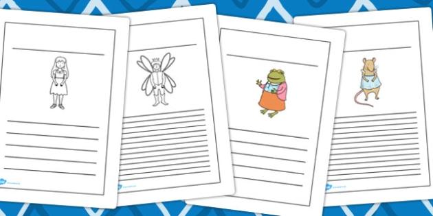 Thumbelina Writing Frames - writing aid, write, story books