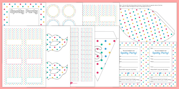 Spotty Themed Party Pack