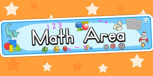 Math Area Sign - math signs, math display, numeracy, math area