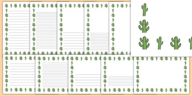 Cactus Page Borders - cactus, page borders, page, borders, plant