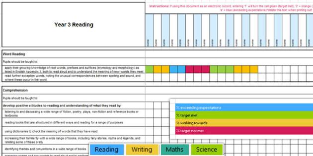 New Curriculum Year 3 Reading Writing Maths Science Assessment - new curriculum, year 3, reading, writing, maths, science, read, write, assessment, assess