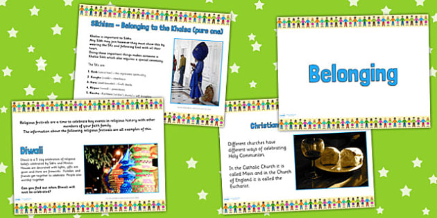 Belonging PowerPoint - religion, re, belonging, clubs
