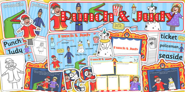 Punch and Judy Story Sack - punch, judy, story, sack, theatre