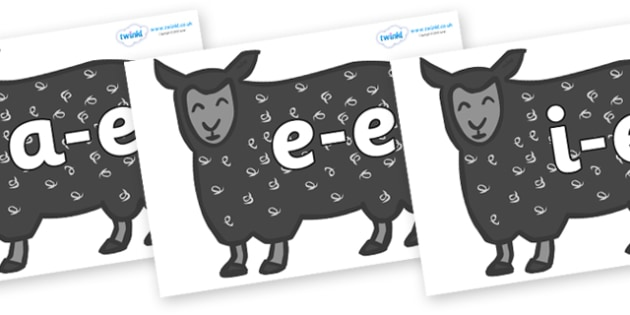 Modifying E Letters on Black Sheep to Support Teaching on Brown Bear, Brown Bear - Modifying E, letters, modify, Phase 5, Phase five, alternative spellings for phonemes, DfES letters and Sounds