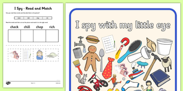 I Spy Read and Match Phase 3 Consonant Digraphs - I Spy, read and match, phase 3, consonant digraphs