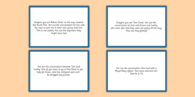 Tom Crean Drama Cards - Tom Crean, Irish History, South Pole, Antarctica, drama cards, improvisation, freeze frame