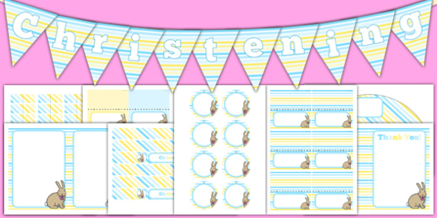 Christening Decorations Pack - Christening, baptism, naming ceremony, baby, party, decoration