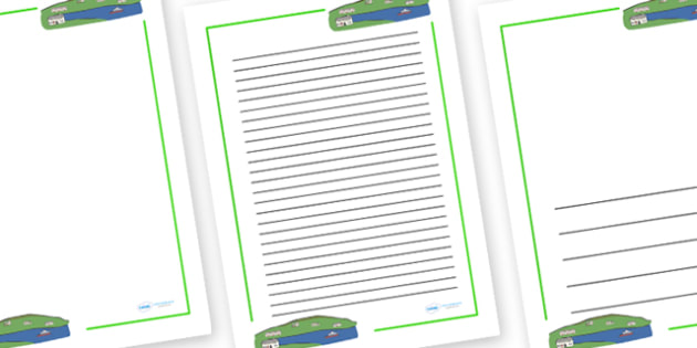 Page Borders to Support Teaching on Katie Morag - Katie Morag, Isle Of Struay, Scotland, page border, border, writing template, writing aid, writing aid, island, home, Scottish stories