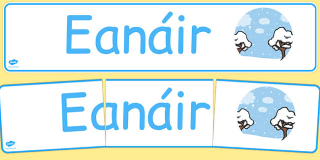 Eanáir Display Banner Gaeilge - gaeilge, january, display banner, display, banner, months of the year
