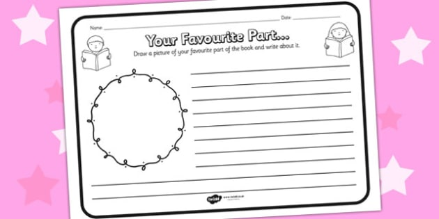 Your Favourite Part Comprehension Worksheet - your favourite part, comprehension, comprehension worksheet, character, discussion prompt, reading, discuss