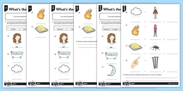 What's the Compound Word Differentiated Activity Sheet Pack - GPS, spelling, grammar, compound words, worksheet