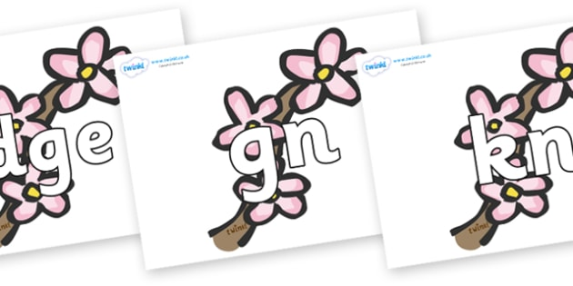 Silent Letters on Blossom - Silent Letters, silent letter, letter blend, consonant, consonants, digraph, trigraph, A-Z letters, literacy, alphabet, letters, alternative sounds