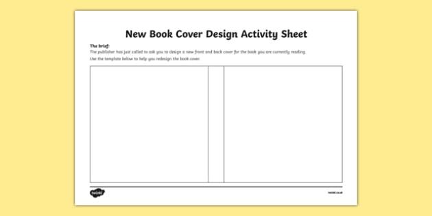 New Book Cover Design Activity Sheet-Irish, worksheet