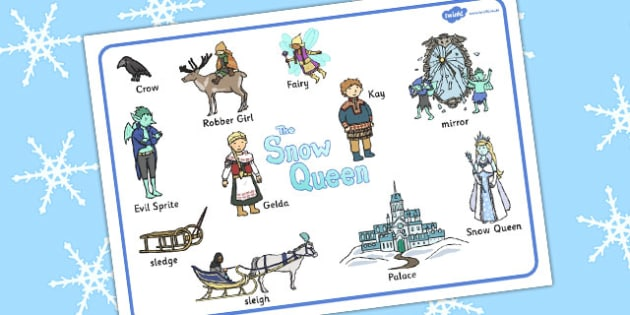 The Snow Queen Word Mat - traditional, words, mats, literacy