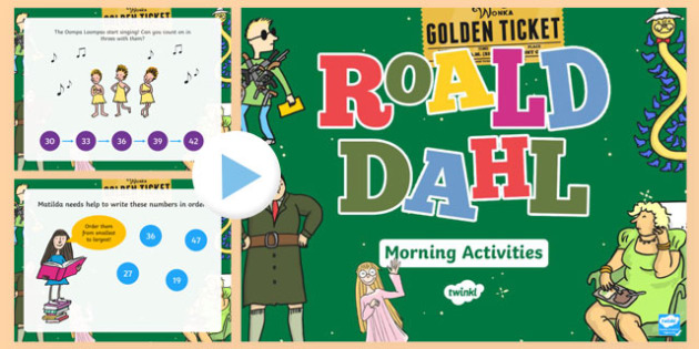 Roald Dahl Themed Year 2 Morning Activities PowerPoint-Welsh