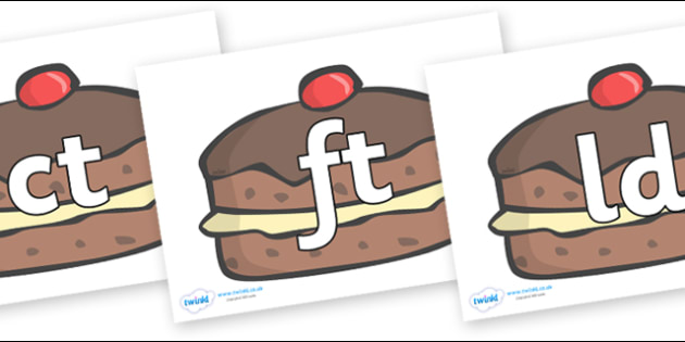 Final Letter Blends on Chocolate Buns - Final Letters, final letter, letter blend, letter blends, consonant, consonants, digraph, trigraph, literacy, alphabet, letters, foundation stage literacy