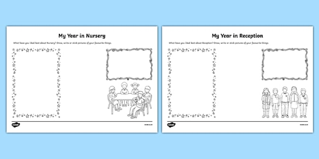 EYFS Review of the Year Activity Sheet, worksheet